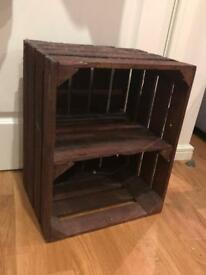 2 x crate bedside tables