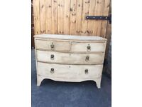 CHEST OF 5 DRAWERS PAINTED EDWARDIAN MAHOGANY GREY FARMHOUSE COUNTRY STYLE