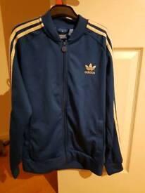ADIDAS jacket - blue - size 13/14 boys