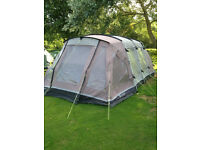 Tent 5 berth Tunnel Outwell Glendale 5 only used 3 times.includes Footprint and carpet.