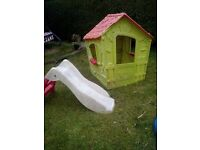 Plastic playhouse and slide Toddler -4 years