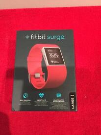 New FitBit Surge Fitness Band Tangerine Large.Cheap Smart Watch⌚️