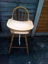 Wooden Highchair baby chair for toddlers/kids