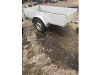 Anssem trailer 2 metres by 1 metre complete with jockey wheel and spare