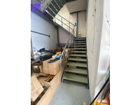 Steel Staircase metal fire escape with landing