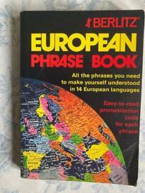 Berlitz European Phrase Book.