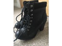 New Black ankle boots size 4