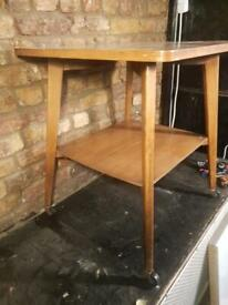 Vintage Two Tier Trolley / Table On Castors