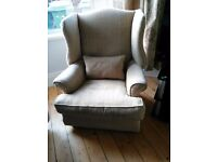Armchair. Feather filled cushions