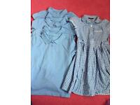 5x polo tops and school dress age 5-6