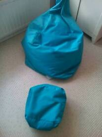 Bean bag chair and stool