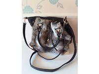 Faux fur New Look handbag