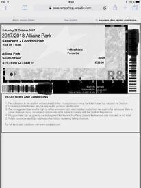 Sale Saracens vs London Irish ticket