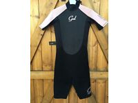 Gul Girls/Women's Shorty 3/2mm Response Wetsuit Pink - Size 8