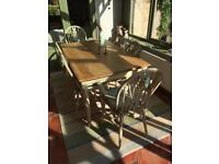 SOLD 15.07.2018 Dining table and 6 matching chairs