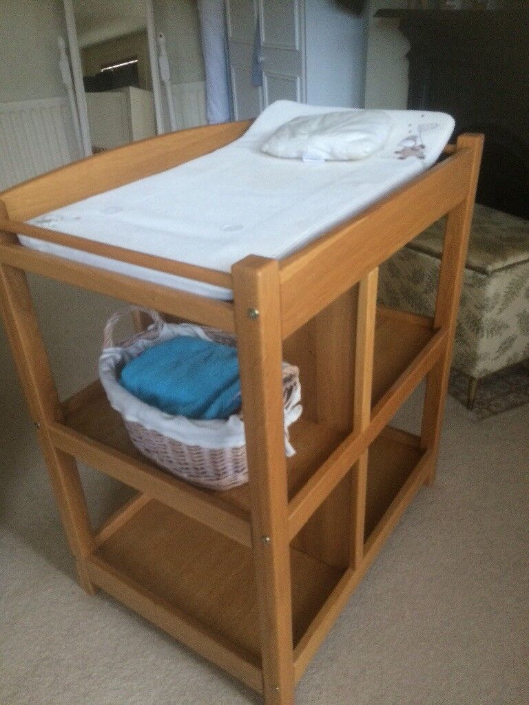 Solid Oak Wood Changing Table