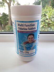 Hot tub chlorine tablets