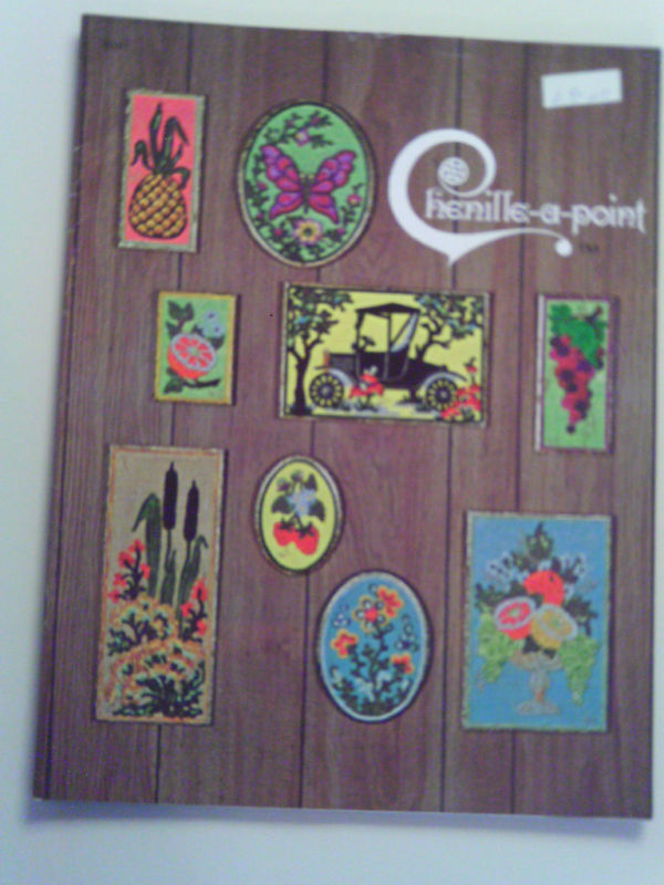 Vintage Chenille a Point - Paperback Instruction Book - 1971