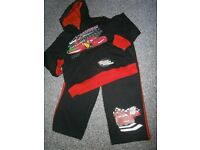 Boys Lightning McQueen Tracksuit 2-3years worn once.