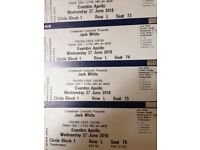 Jack White tickets x 4 for 27 June