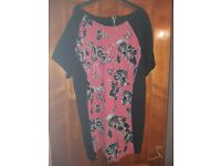 Plus size pink flowery top