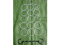 15 Sections Tie or Scarf Hanger with Additional Fitting for £2.00