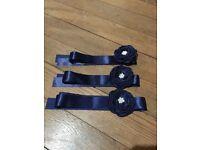 Navy Flower Girl Sashes x3