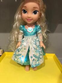 Like new elsa singing doll with hair brush girl gift christmas