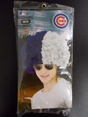 NEW CHICAGO CUBS  ADULT HALLOWEEN COSTUME 2 COLOR CLOWN WIG  - Dn Halloween Costume