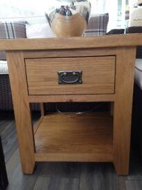 Solid Oak Side Table