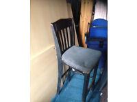 pub stool wooden frame fabric seats high chair