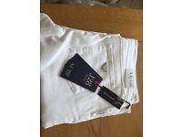 Women's White Armani jeans 34 waist, 34 leg £70