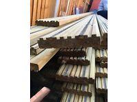 Non slip decking boards 4.8m x 145mm x 28mm green redwood