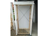 Single Pine Canvas Wardrobe £15