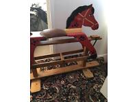 Retro vintage hand made rocking horse