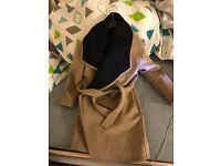 Camel Wrap Coat (from Mango)