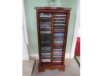 Solid Yew CD Storage Unit