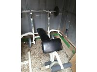 weight bench competitor no weights or bar