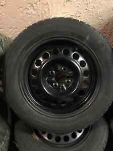 195 60 15 MICHELIN X ICE WINTER SNOW TIRES ON RIMS 5X130 BOLT PATTERN 5/32 TREAD ONLY $300