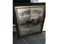 Large decorative Southern Comfort mirror