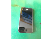 IPHONE4 SILVER EDGE WORKIKNG & UNLOCKED