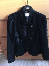 BLACK VELVET JACKET FROM NEXT SIZE 10