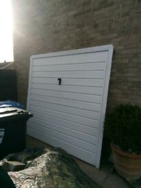 Garage door and frame up and over metal type