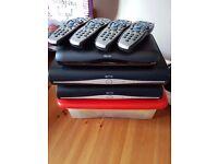 3x sky boxes (2x DRX890WL-Z 500gb wifi sky+HD 1x DRX595L-C multi room HD box)