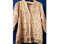TRF/Zara ditzy floral print long sleeved shirt .Medium