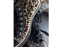 RARE leopard print converse 🐆💛
