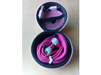 Hard Storage Case With Headset & Micro USB Cable Pink
