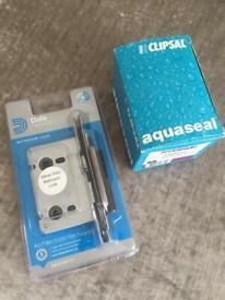 Aqua-seal Surface Mount Socket & Dale Hardware Bathroom Door Lock - See All Photos