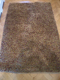 Ikea Rug cotton/wool/viscose mix in shades of browns/greens
