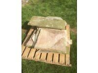 Mixed sand stone slabs